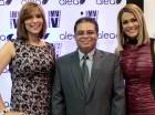 Laura Cardenes, Fredy Santos y Caroline Aquino.