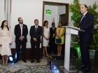 El administrador general de Banreservas, Enrique Ramírez Paniagua, presenta el Programa de Fideicomiso Turístico en el hotel Marriott.
