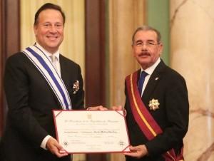 El presidente de Panamá, Juan Carlos Varela Rodríguez, y el de República Dominicana, Danilo Medina.