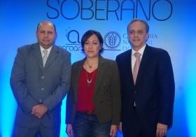 Jorge Ramos, Edilenia Tactuk y Luis Rubio.