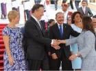 Tras el pase en revista, fueron presentadas las delegaciones de la República Dominicana y la República de Panamá.
