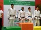 Yunior Manuel Cuello (segundo desde la izquierda) ganó medalla de oro en judo.