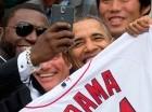David junto al presidente de EE. UU., Barack Obama, en el controversial selfie en 2014.