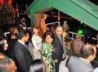La pareja presidencial encendió el tradicional arbolito.