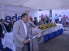 El ingeniero Émerson Eusebio dijo las palabras centrales del acto de entrega de la rehabilitación del circuito de Herrera.