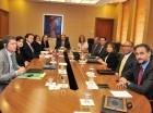 A la reunión en el BC asistieron varios ejecutivos del Fondo Monetario Internacional.