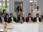 Desde la izquierda Apostolos Peppas, vicepresidente Falcondo; Damian Damalitis, asesor senior GSOL; Ioannis Moutafis, presidente; Mario Dávalos, consultor Comunicación e Ido Talmor, gerente de RS.