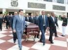 Los restos de Andrés Aybar fueron llevados al Congreso Nacional.