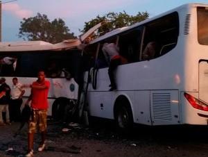 Accidente en tramo Verón-Higüey.