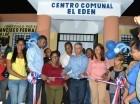 Inauguración de un centro comunal en Villa Mella.