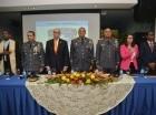 El acto fue encabezado por el mayor general Nelson Peguero Paredes, jefe de la Policía y el magistrado del Tribunal Constitucional Víctor Gómez Bergés, en representación del presidente de esa alta Corte magistrado Milton Ray Guevara.