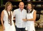 Lissette Lora de Hazoury, José Acebal y Rossana Rizek de Acebal.