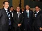 El presidente Danilo Medina tras la declaración emitida en París.