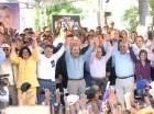 Momento de juramentación de Tommy Galán como candidato senador San Cristóbal.