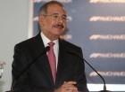 Danilo Medina en la Cámara Americana de Comercio, donde fue el orador principal.