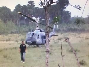 El helicóptero transportaba varios funcionarios del gobierno.