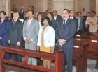 Jueces del TSE durante la celebración de la misa en la catedral.