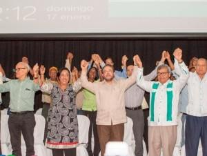Guillermo Moreno proclamó candidatos a diputados a Andrés L. Mateo, Guadalupe Valdez y Senén Caba en el Club Mauricio Báez.