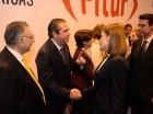 Francisco Javier García y otros ministros de Turismo de países de la región saludan a la reina de España, Letizia Ortiz, que visitó Fitur.