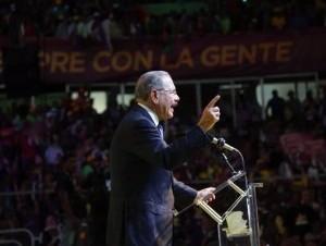 Danilo Medina durante el lanzamiento de su campaña presidencial.