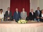 Los doctores Dolores Mejía, Jorge Asjana, Ricardo García-Martínez, José Asilis, Antonio Selman, Américo Bordas y Togarma Rodríguez.
