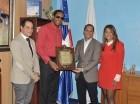 Javier Soto Mayor, ex campeón mundial de atletismo, el cubano.