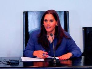 Alcaldesa Karen Aristy Cedeño.