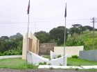 El monumento ubicado en Maimón está descuidado.
