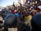 La oposición protestó ayer en Puerto Príncipe.