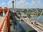 Los trabajos de construcción de la línea 2B del Metro de Santo Domingo, así como del teleférico que unirá Sabana Perdida con Gualey, no se detienen a ninguna hora del día y la noche. Ejemplo de ello es el puente paralelo al Francisco del Rosario Sá