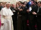 El papa Francisco recibió en una audiencia a varios misioneros.