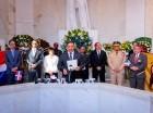 Roberto Rosario y demás jueces de la JCE, en el Altar de la Patria.