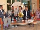 """Jandy, Tueska y Silvio cuando participaban en """"Música entre Libros""""."""