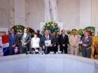 El presidente de la JCE, Roberto Rosario Márquez se dirige a los presentes al pronunciar su discurso en el Altar de la Patria.