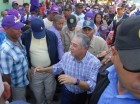 El alcalde del Distrito Nacional, Roberto Salcedo, durante un mano a mano.