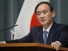 El jefe del gabinete Yoshihide Suga habla en conferencia de prensa en la residencia oficial del primer ministro de Tokio el miércoles 10 de febrero de 2016.