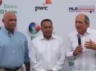 Rafael Pérez, Ramón Ogando y Jorge Besosa durante el acto.