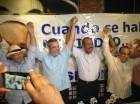 Desde la izquierda Hipólito mejía, Luis Abinader, José Montás y Quique Antún.