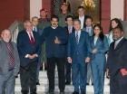 Nicolás Maduro recibió a Samper y Fernández.