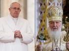 El papa Francisco y el patriarca de la Iglesia rusa ortodoxa Kirill se verán la cara hoy.