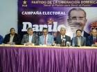 Miembros del PLD anuncian recorrido de Danilo medina en Santiago de los Caballeros y la región Este.