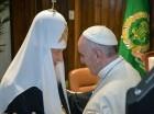 Francisco  y el Patriarca Kirill se reunieron ayer en La Habana, Cuba.  Las iglesias católica y ortodoxa se separaron en 1054.