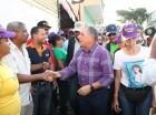 Roberto Salcedo durante mano a mano en Villas Agrícolas.