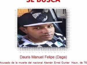 Dauris Manuel Felipe (Daga), buscado por la policía por el hominicio de un turista alemán durante un asalto en puerto Plata.