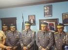 El jefe policial, mayor general Nelson Peguero Paredes, junto a altos militares en Puerto Plata.