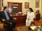 Montalvo se reunió con los legisladores en el Palacio Nacional.