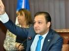 Abel Martínez durante la sesión de ayer en la Cámara de Diputados.