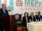 Temístocles Montás habla en unos de los actos del aniversario del MEPyD.