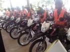 Motocicletas entregadas a la Dirección Regional Norte  en Puerto Plata.