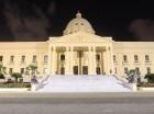 Palacio Nacional a oscuras.